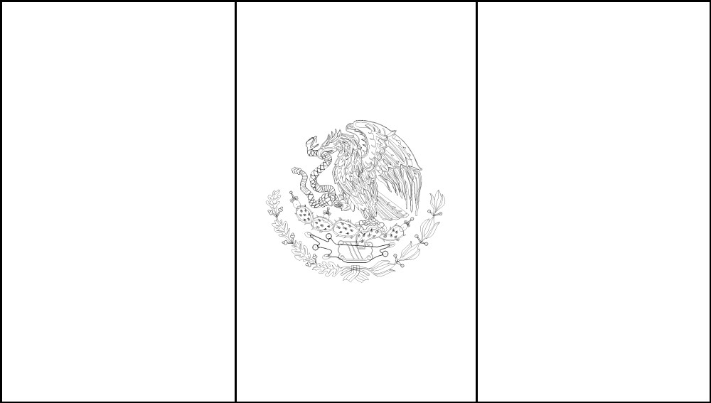 Free Printable Mexico Flag Color Book Pages 8 X 11
