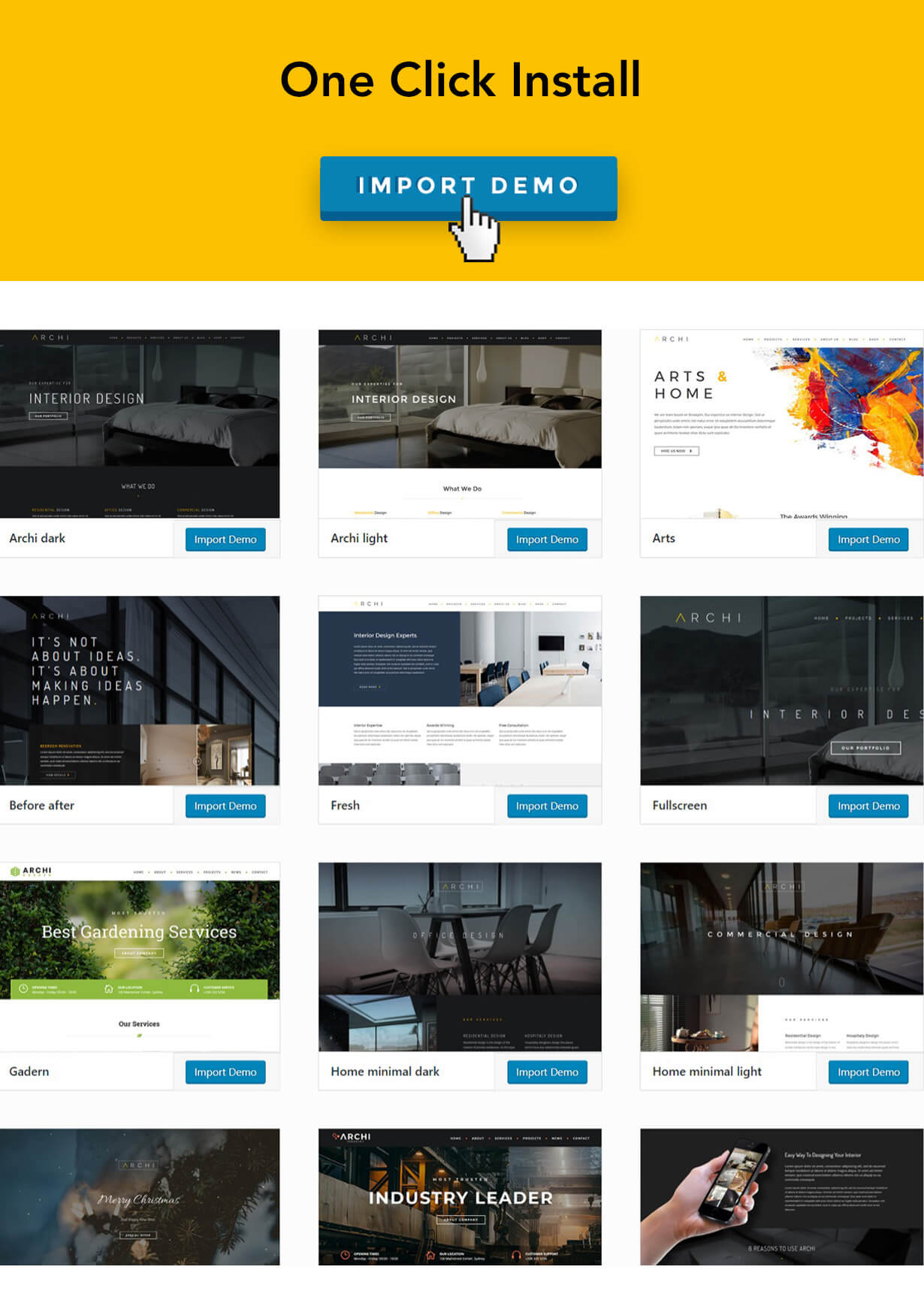 Archi - Interior Design WordPress Theme - 11