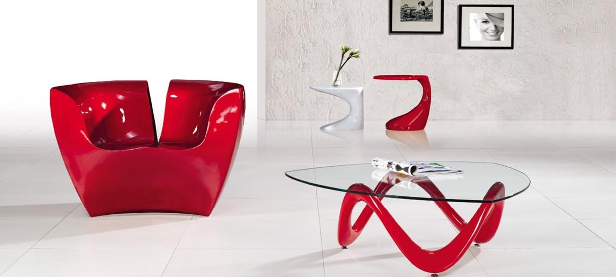 Table Basse Design Rouge Prix Bas Garantie