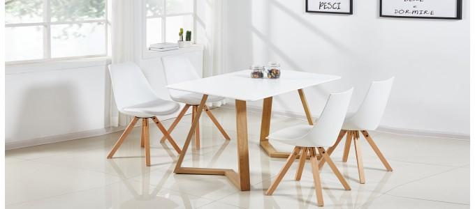 table a manger scandinave blanche 120cm trevi