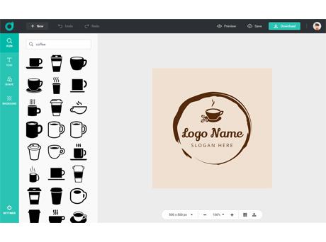 Tampilan website designevo.com