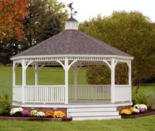 ideas for outdoor living spaces - gazebo