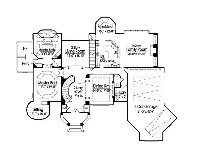 Fortress house plan 1st floor plan