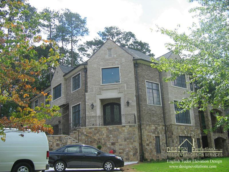 Harrison English Tudor elevation design 10