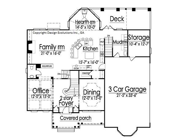 Cashton first floor plan