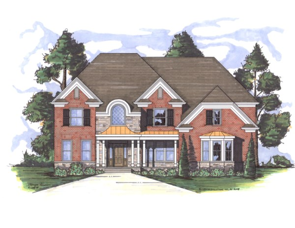 Cashton house plan rendering