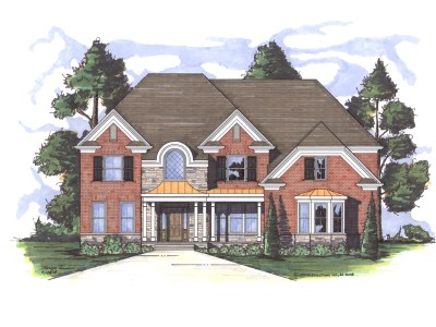 Cashton house plan front elevation