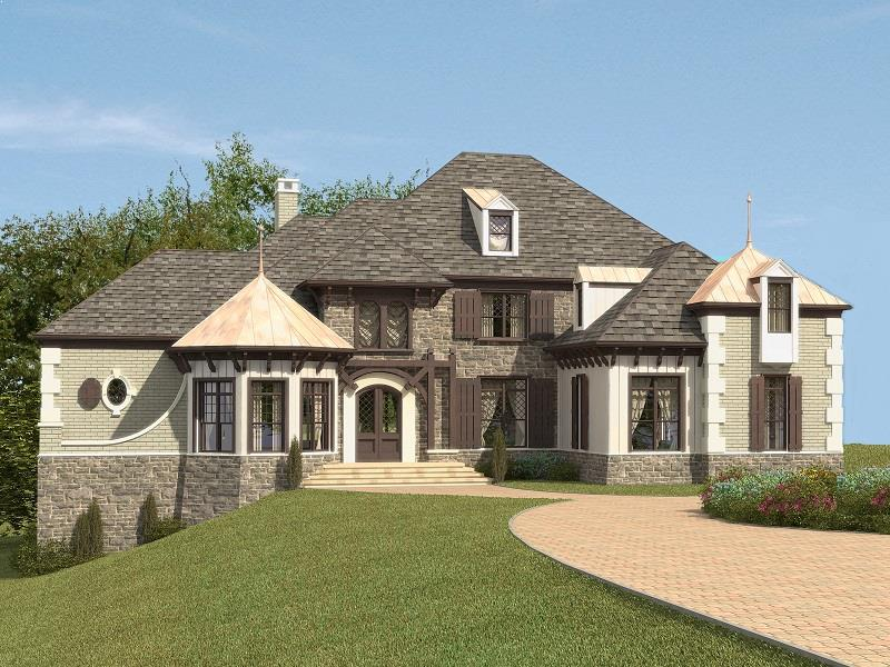 ponderosa house plan rendering 1