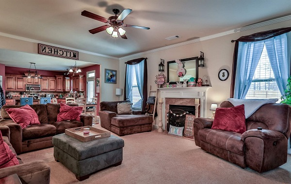 Montana house plan family room