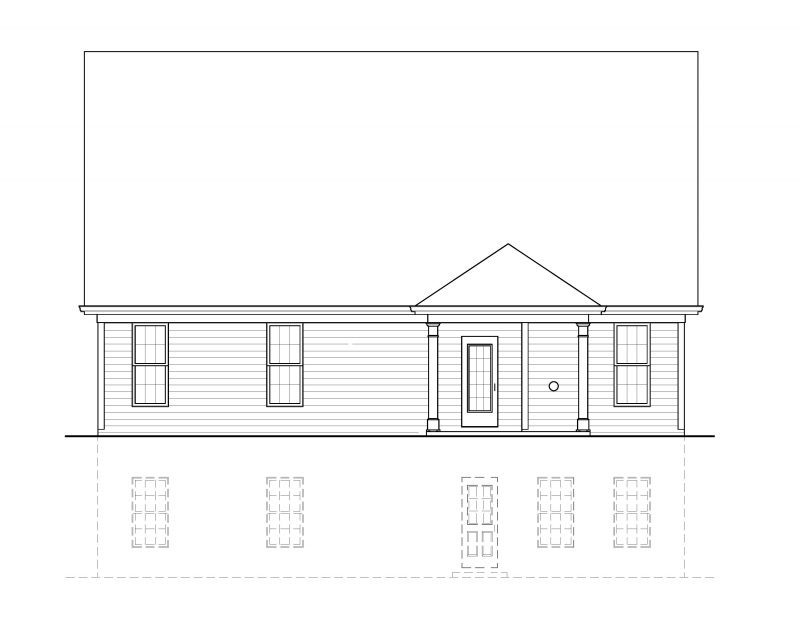 Bellview 2 rear elevation