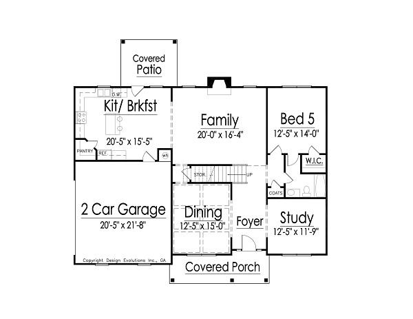 Camelton first floor plan