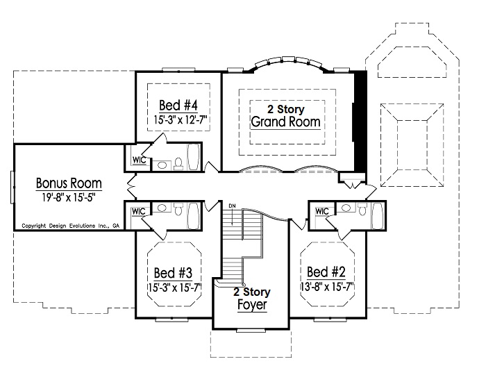 Lexington 2nd Floor Plan