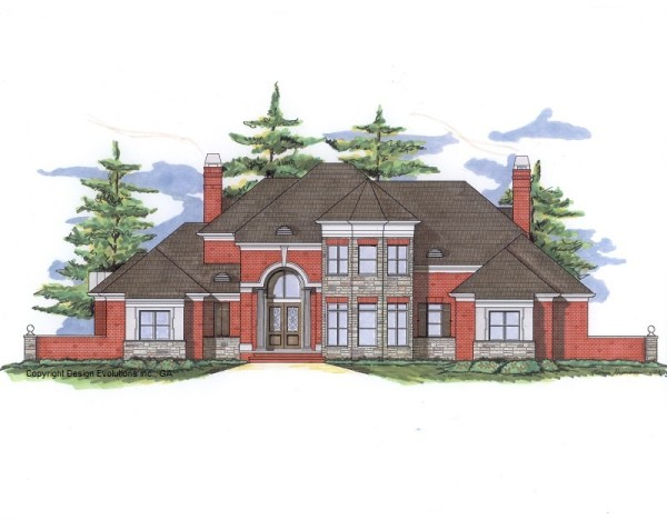 Wedale house plan front elevation