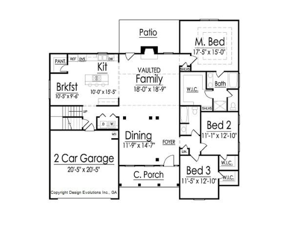 Braylon house plan first floor