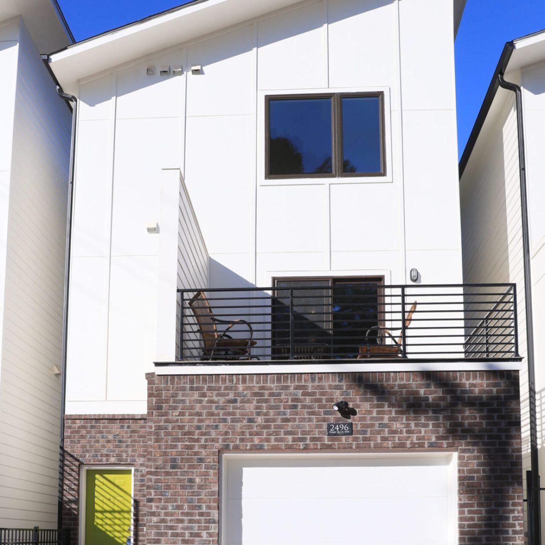 Perla house plan rear elevation