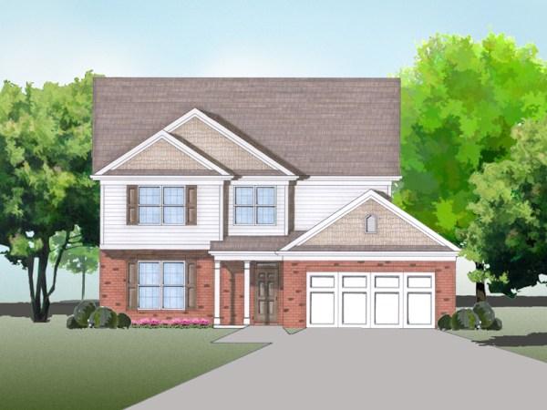 Claymore house plan rendering