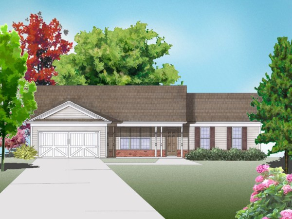 Ellise house plan rendering
