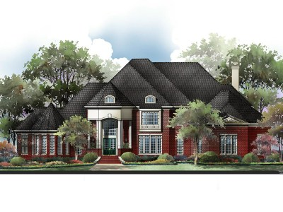 Fortress house plan rendering