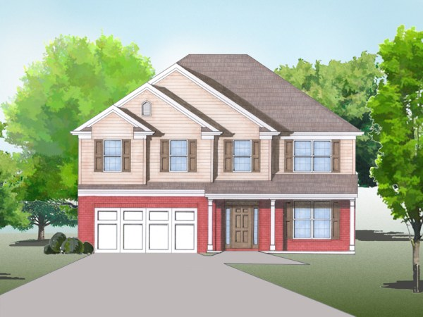Gatford house plan rendering