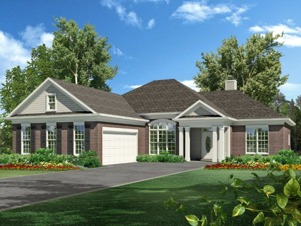 Hilliard house plan rendering