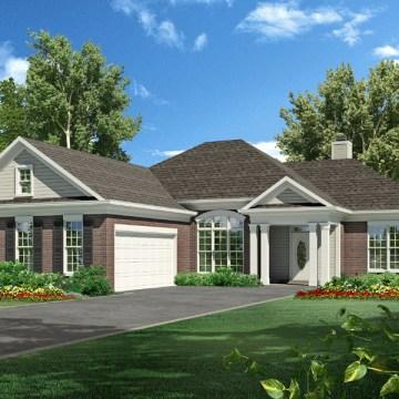 Hilliard house plan rendering