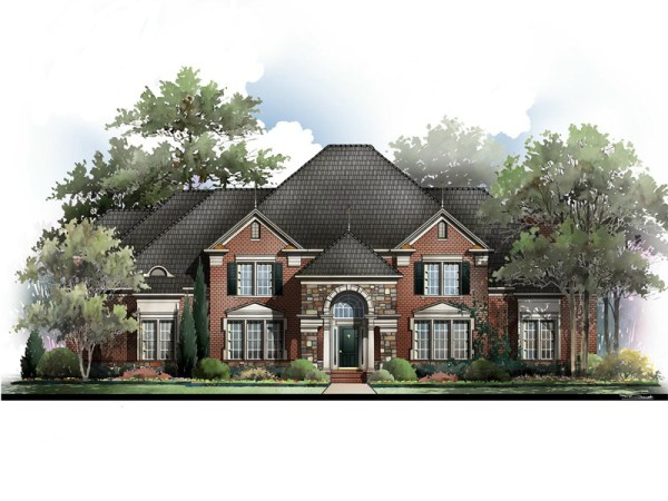 Lexington house plan rendering
