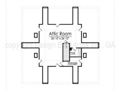 Dunleith attic floor