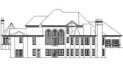 Canton rear elevation