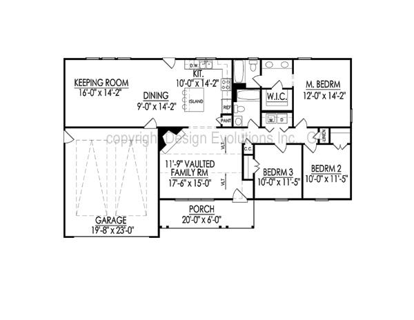 Ellise plan modern home dining