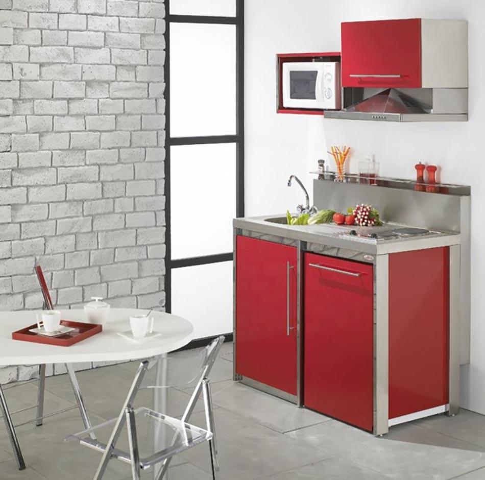 la kitchenette moderne quip e et sur optimis e cuisine compacte pour studio