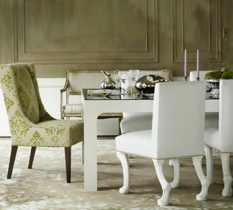 manger moderne aux chaises design