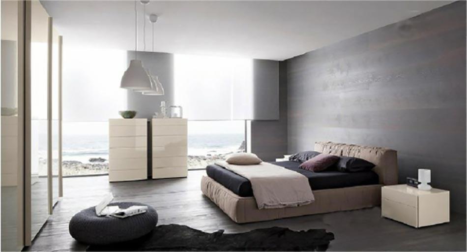 ameublement chambre tout en gris tendance