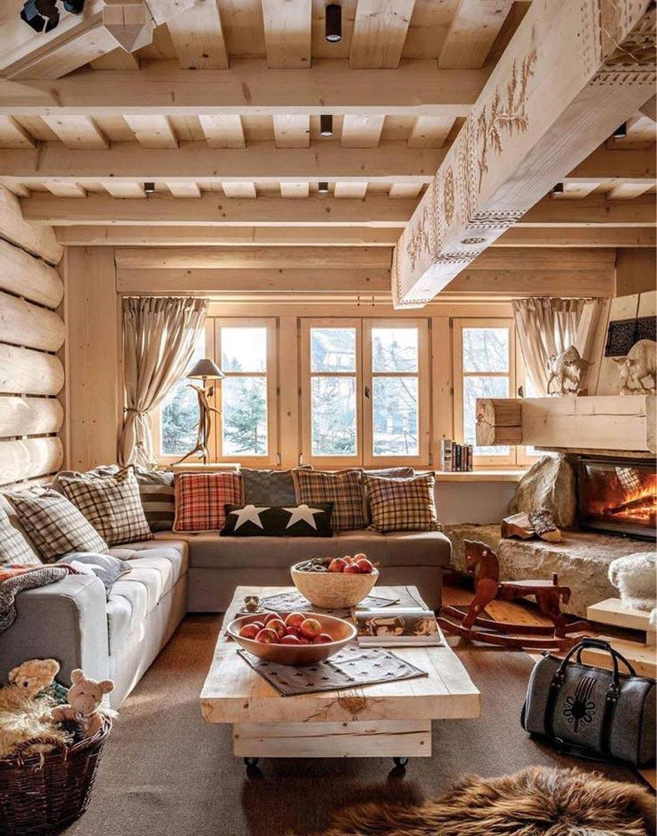 convivial et sympa l interieur bois d une jolie maison met tout le monde a l aise