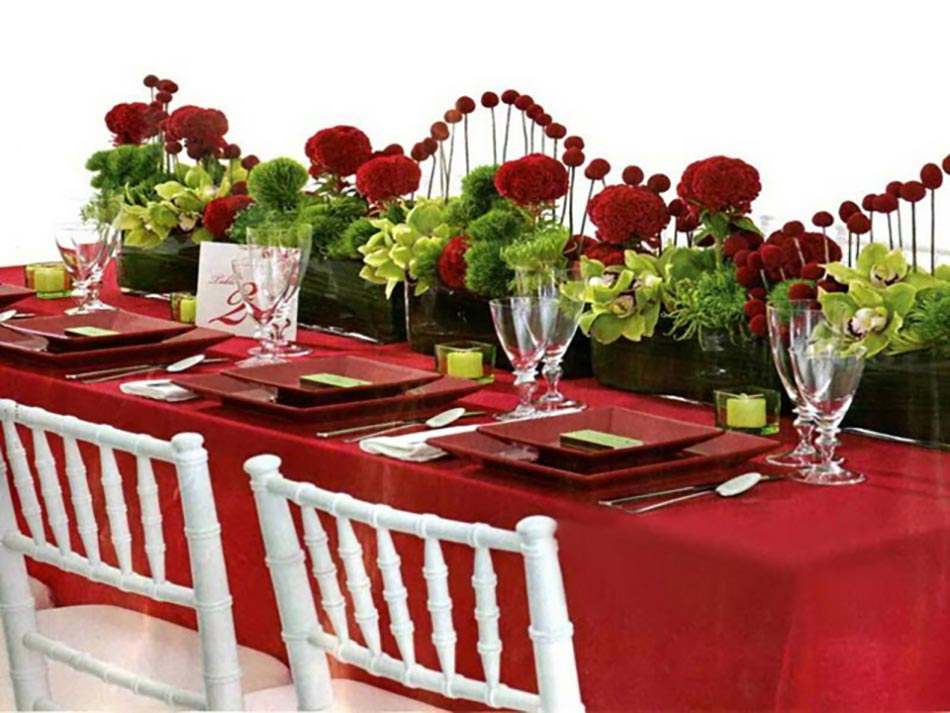 Dresser Une Belle Table De Nol En Rouge Design Feria