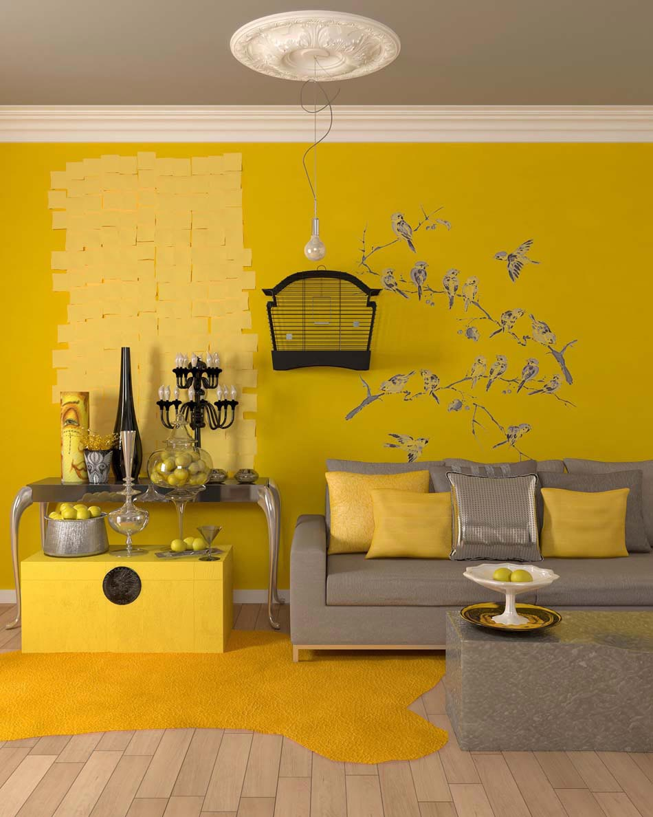 Une Deco Salon De Toute Fraicheur Aux Touches Printanieres En Jaune Design Feria