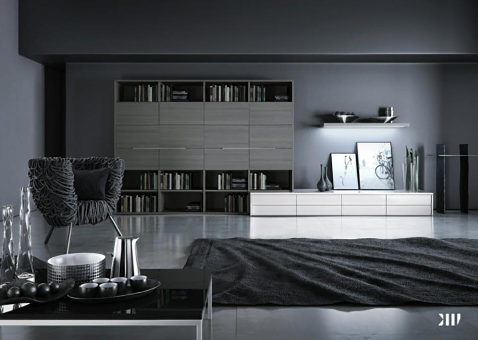 design chic ou un salon noir et blanc