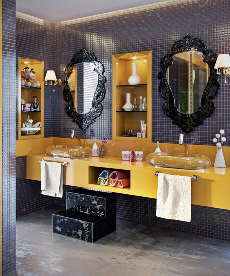 salle de bain de luxe au design modern