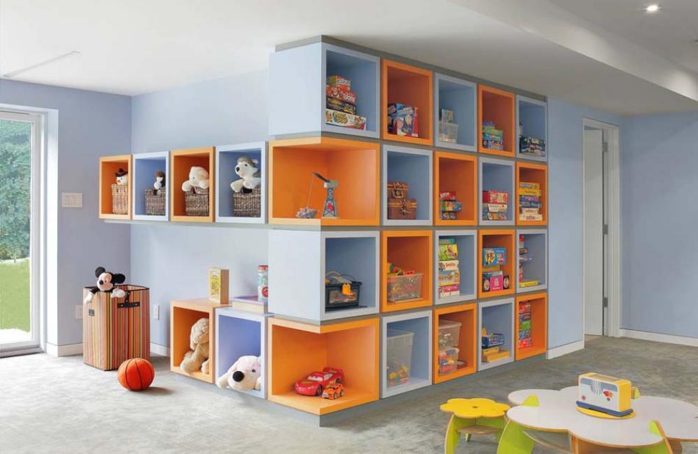 rangement des jouets au design ludique