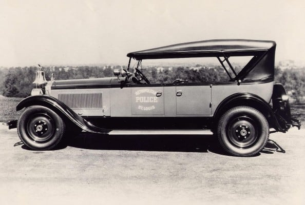 We can't be sure what color this car was, since it's so old (1920s). But since the photo is black and white, it counts!