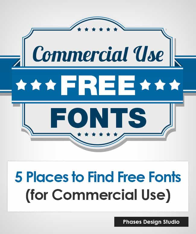 Places To Find Free Fonts For Commercial Use