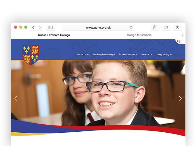 Design For Schools: Queen Elizabeth College Website Design