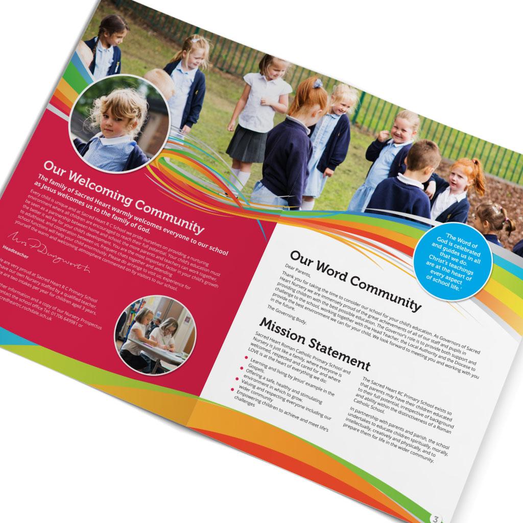 Sacred Heart Primary School Prospectus Design