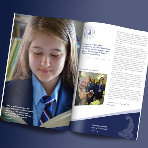Brownedge St Mary's Catholic High School Prospectus & Print