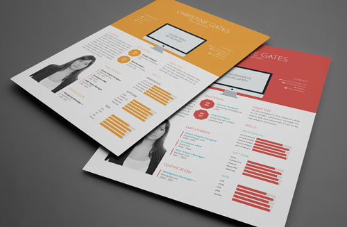 8 Sets of Free InDesign CV Resume Templates   Designfreebies Free CV resume indesign template 2