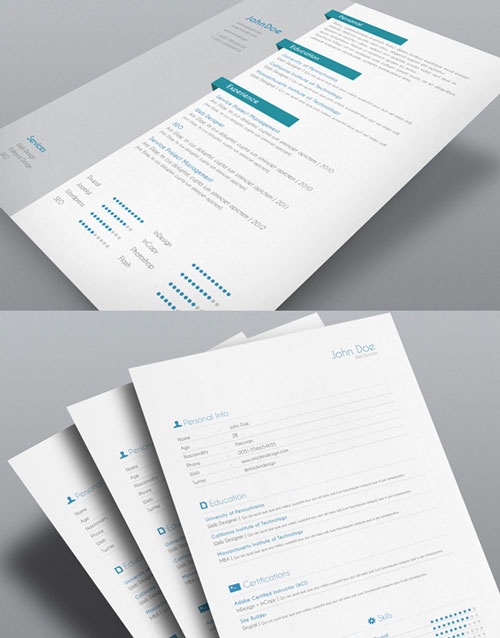 resume template 6 resume template for indesign cover letter resume