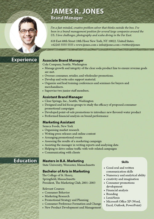free indesign templates textured resume designs to get you noticed