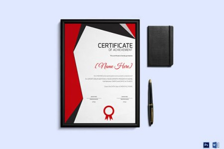 10 Sets of Free Certificate Design Templates   Designfreebies Sports Achievement Award Certificate Template