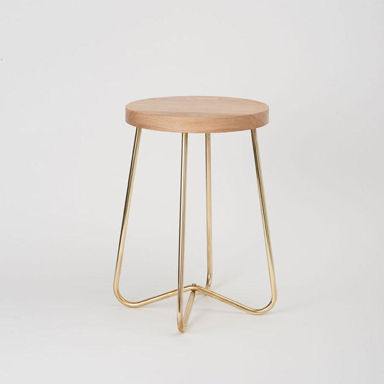 Brass stool