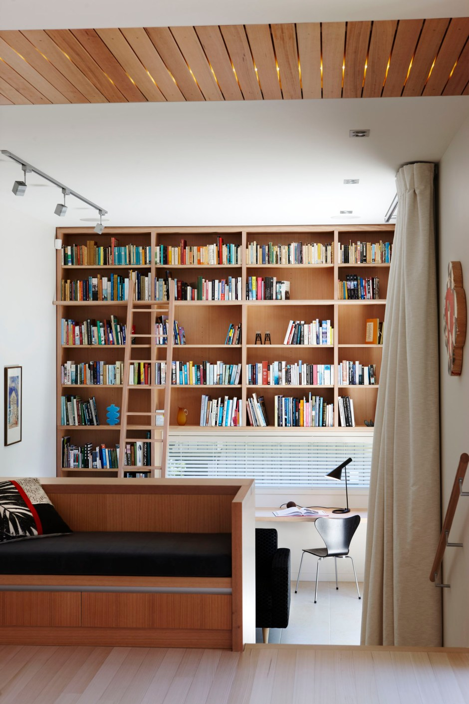 Dave Strachan townhouse built in library shelving maximises space
