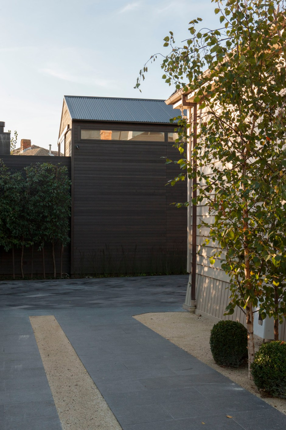 Richard Naish suburban house neighbour is renovated Victorian worker's cottage